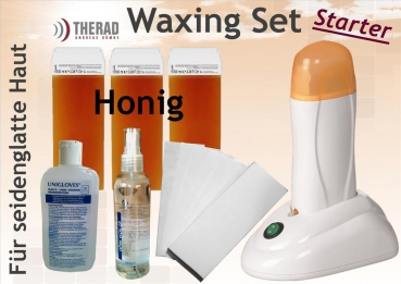 Waxing-Set Honig-Starter orange mit Wachsstation